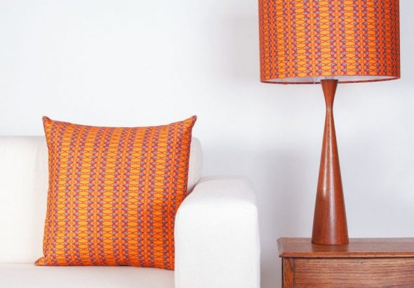 burnt orange lamp shade